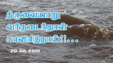 Photo of Holy River Cauvery Reaches Thiruvaiyaru – 20.08.2019