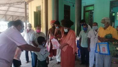 Photo of Distribution of Corona Relief products – Dharumapuram Adheenam